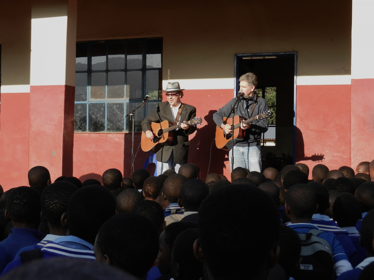 Performing at a primary school